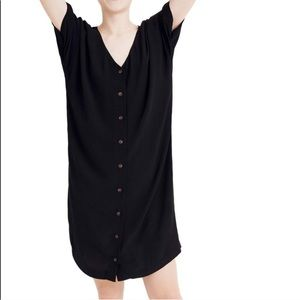 Madewell Black Button-Front Easy Dress NWT Size S